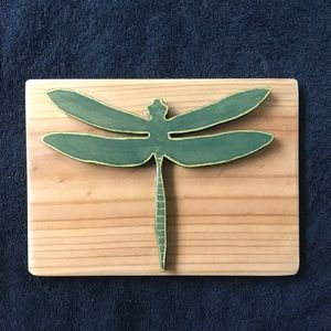 Hand crafted Dragonfly , that symbolises new beginnings .